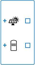Combinazione collettore solare e serbatoio.