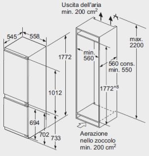 Schema combinato da incasso Bosch 177,2 cm.