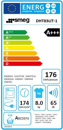 Enegy label DHT83LIT-1.