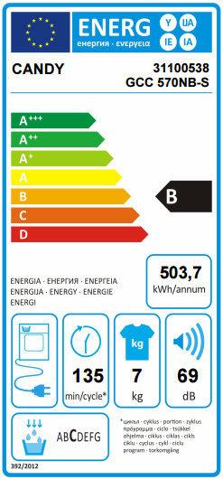 Energy label GCC570NBS