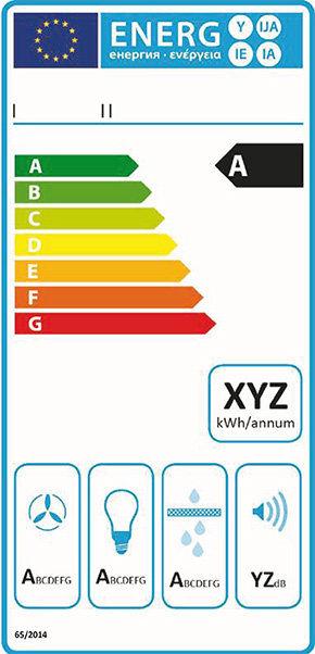 Energy label cappa cucina 1 gennaio 2015.