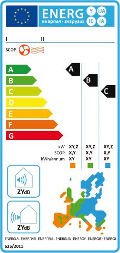etichetta energetica climatizzatori solo caldo 1 gennaio 2013