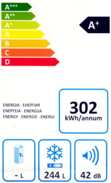 Energy label congelatore