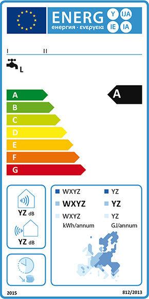 Energy label scaldacqua pompa di calore 2015.