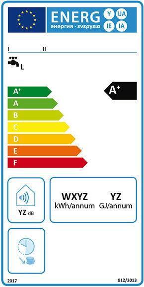 Energy label scaldacqua convenzionale 2017.