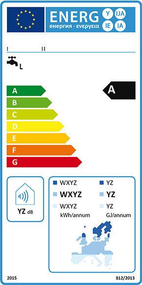 Energy label scaldacqua solare 2015.