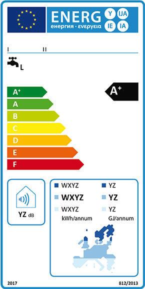 Energy label scaldacqua solare 2017.