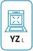 Pittogramma capacità litri cavità del forno.