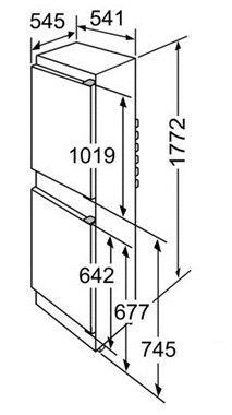 Misure frigorifero incasso KIV34V21FF.