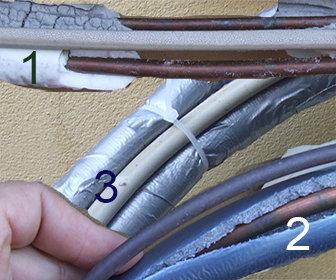 Rivestimento tubi condizionatore terminali antivento per for Isolamento per tubi di riscaldamento in rame